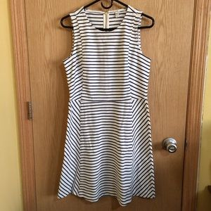 J.Crew  Sleeveless Striped Casual Dress